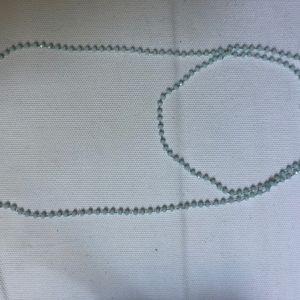 sky blue long beaded necklace